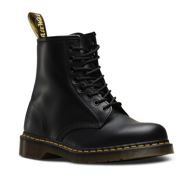 ドクターマーチン Dr.Martens 通販 1460 8EYE BOOT レディース シューズ 靴 ブーツ BLACK 8ホール スムースレザー イエローステッチ 定番 黒 10072004 [Y100]