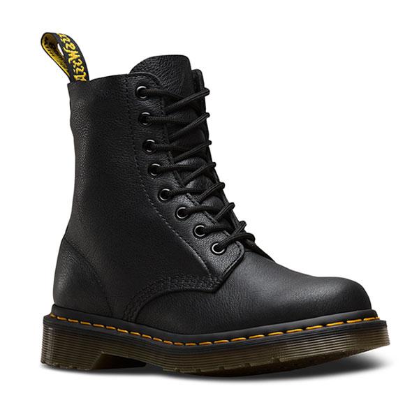 ドクターマーチン Dr.Martens 通販 PASCAL 8EYE BOOT レディース シューズ 靴 ブーツ パスカル 8ホール ソフトレザー BLACK イエローステッチ 黒 13512006 [Y100]