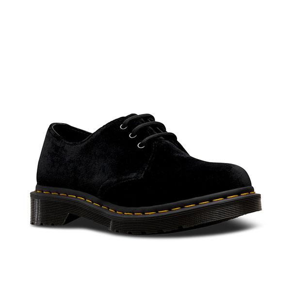 《ポイント10倍》【SALE20%OFF】ドクターマーチン Dr.Martens 通販 CORE 1461W 3EYE SHOE VELVET レディース シューズ 靴 ベルベット イエローステッチ クラシック BLACK 黒 24747001 [Y100]