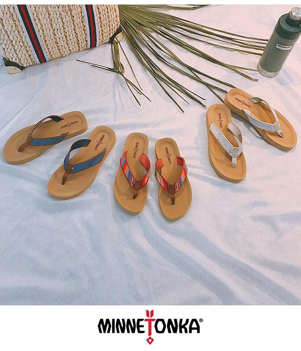b6a3881f5e5 MINNETONKA Mine Tonka HEDY beach sandal sandals Lady s B sun flat sandals  flat ぺたんこ shoes shoes rubber 75000