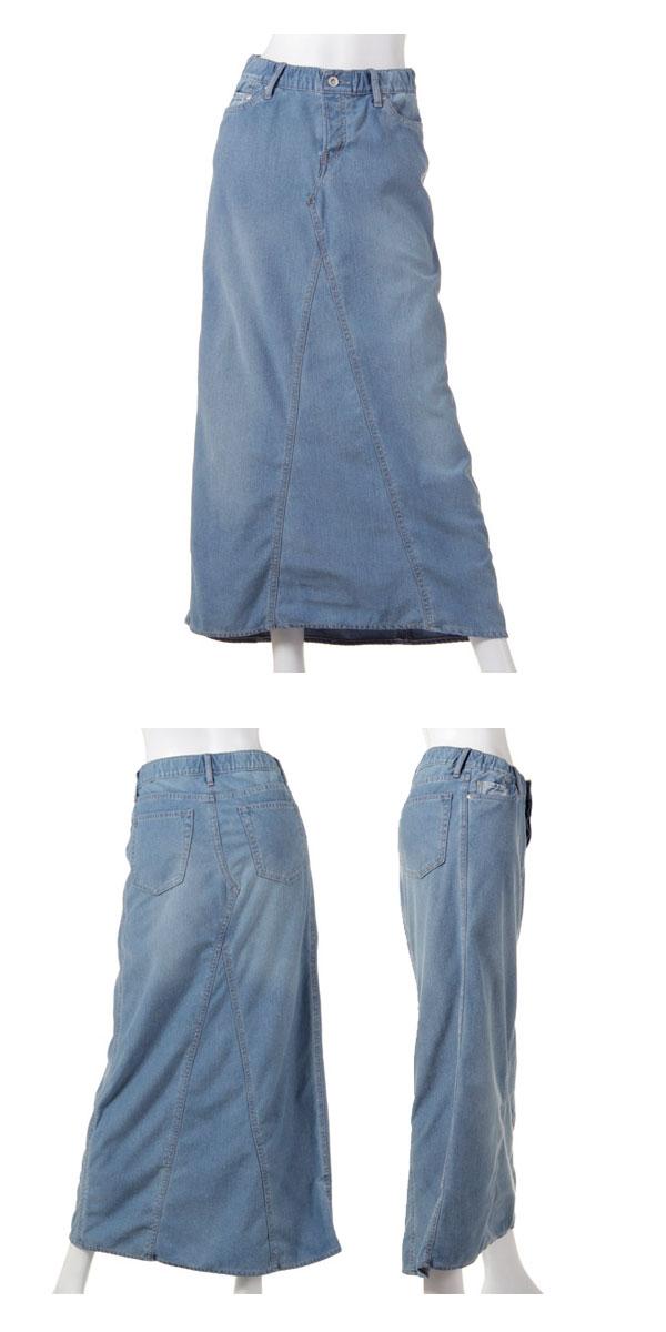 (goa)因为是女子的针织材料所以放松,能穿的☆cut粗斜纹布×粗斜纹布长裙长裙粗斜纹布长长长裙素色(31414086)(立即交纳)邮购