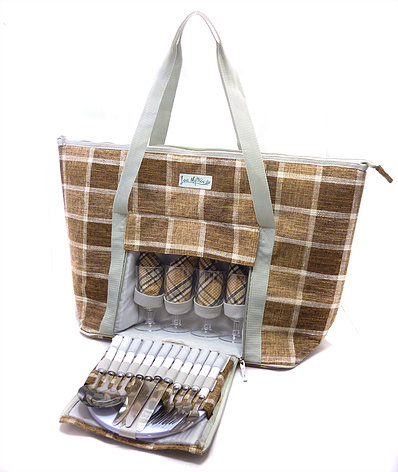 【LoaMythos】Tote Type All in One Picnic Cooler Bag (4人用)【メーカー直送のため代引不可】