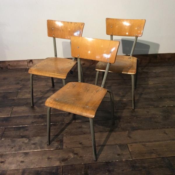【ダブルデイ/アンティーク/家具】 Vintage School Chair (2508-B091-c) ヴィンテージ スクールチェア(アンティーク/チェア/ビンテージ/学習机)