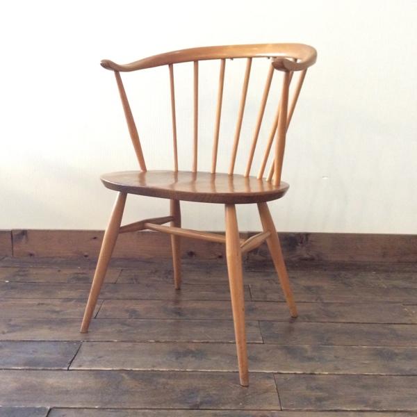 【8/31まで送料無料!】Ercol FireSide Chair(Smoker Chair)(2901-032) アーコール ファイヤサイド チェア(ファイヤーサイド/スモーカーチェア/アームチェア/ダイニングチェア/ミッドセンチュリー/ビンテージ)【ダブルデイ/アンティーク】NEW