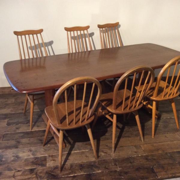 非売品 アーコール リフェクトリー (2807-055) テーブル Ercol Table Refectory Table (2807-055)【ダブルデイ/DOUBLEDAY アーコール/アンティーク/ビンテージ/家具/雑貨】, 下津町:0a83c7d5 --- hafnerhickswedding.net