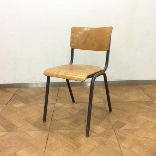 TUBAX Stacking School Chair1984 TUBAXスタッキングスクールチェア(2911-146)【ダブルデイ/DOUBLEDAY/アンティーク/ビンテージ/家具/雑貨)】