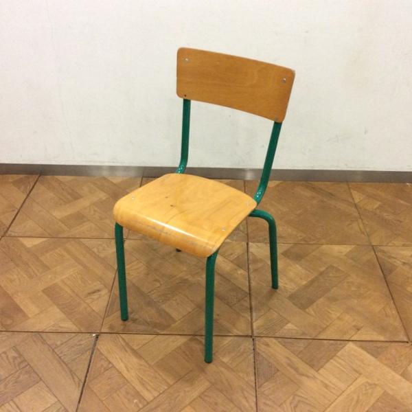 Belgium Stacking School Chair GRベルギースタッキングスクールチェア(2911-087)【ダブルデイ/DOUBLEDAY/アンティーク/ビンテージ/家具/雑貨)】