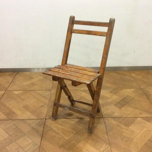 Belgium Beer Factory Folding Chair1969ベルギービアファクトリー折りたたみチェア(2911-117)【ダブルデイ/DOUBLEDAY/アンティーク/ビンテージ/家具/雑貨)】