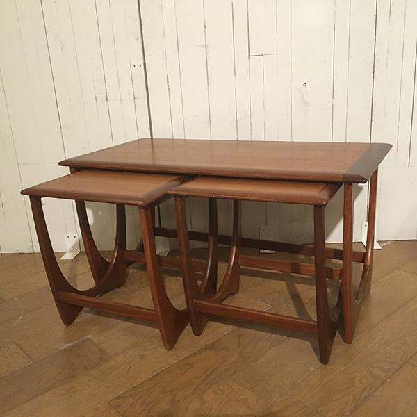 ジープラン ダブル ネスト オブ テーブルG-Plan Double Nest of Table(3109-011) (チーク/北欧スタイル/ミッドセンチュリー/ビンテージ/英国)【ダブルデイ/アンティーク/家具】