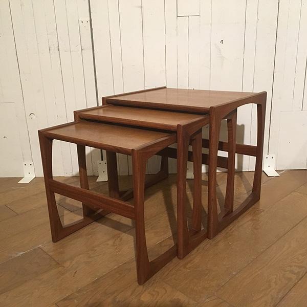 ジープラン ネスト オブ テーブルG-Plan Nest of Table(3109-010) (チーク/北欧スタイル/ミッドセンチュリー/ビンテージ/英国)【ダブルデイ/アンティーク/家具】
