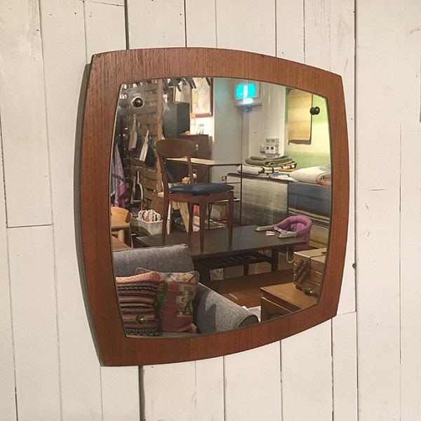 【10%OFF・5月31日(日)18:59まで】ビンテージチークフレームミラー【H】Teak Frame Mirror(3005-004-H)【ダブルデイ/DOUBLEDAY/アンティーク/ミッドセンチュリー/ビンテージ/イギリス/北欧/壁掛け/チーク/鏡/ミラー/雑貨】