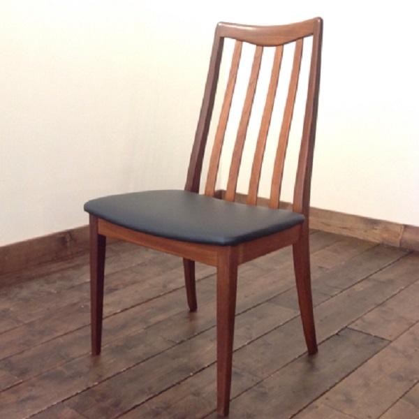 ジープラン ダイニングチェア 1脚(縦バー)G-Plan Dining Chair(2805-003)【ダブルデイ/DOUBLEDAY/アンティーク/ビンテージ/チーク/家具/雑貨】
