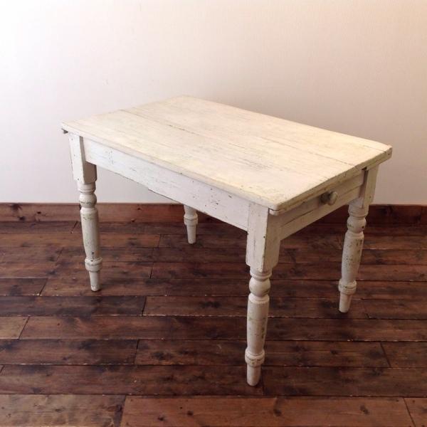 フレンチ ペイント パイン テーブル French Painted Pine Table (2303-106)【ダブルデイ/DOUBLEDAY/アンティーク/ビンテージ/家具/雑貨】