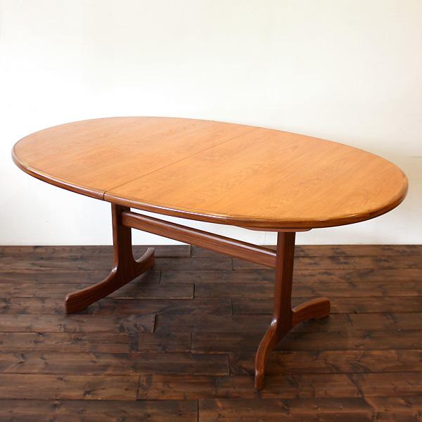 ジープラン オーバル エクステンション ダイニング テーブル G-Plan Oval EX Table / 2Legs(2804-006)【ダブルデイ/DOUBLEDAY/アンティーク/ビンテージ/家具/雑】