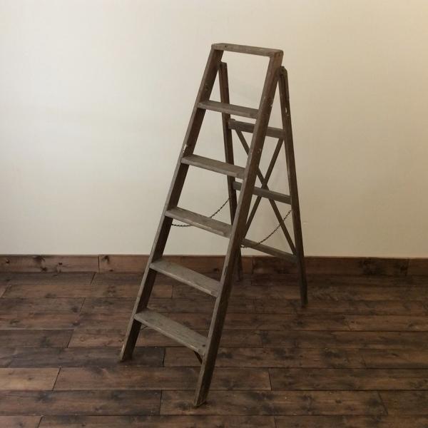 ヴィンテージ ラダー Vintage Ladder(2606-B09)【ダブルデイ/DOUBLEDAY/アンティーク/ビンテージ/家具/雑貨】