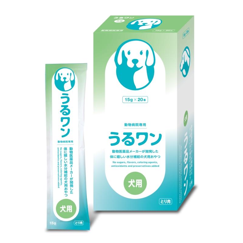 レビューを書いて次回もポイント2倍 あす楽 うるワン 15g×20本入 限定品 水分補給 ×1箱 日本全薬工業 セール特別価格 犬用ゼリー風おやつ