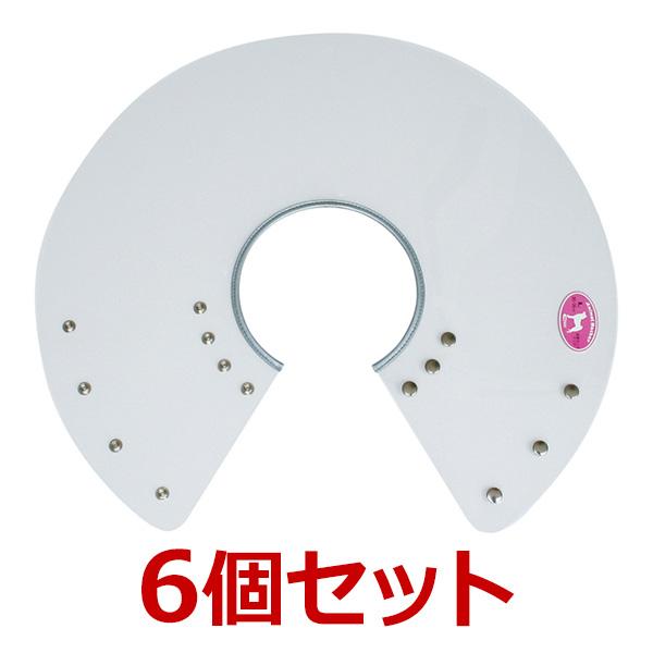 犬【アニマルネッカー 金属ホックタイプ】【クリアー透明·Lサイズ×6個】
