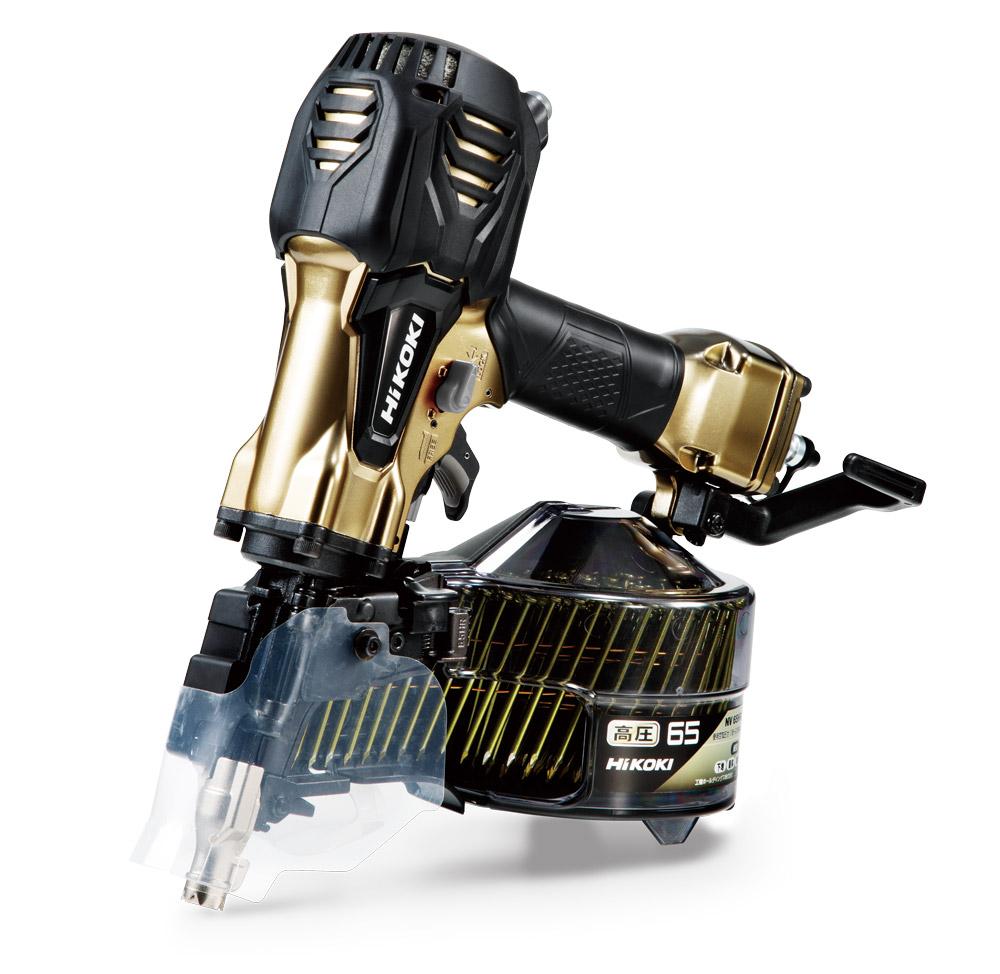 狙い撃ちがしやすいスマートノーズ採用 Hikoki OUTLET SALE 65mm高圧ロール釘打機 10%OFF N NV65HR2