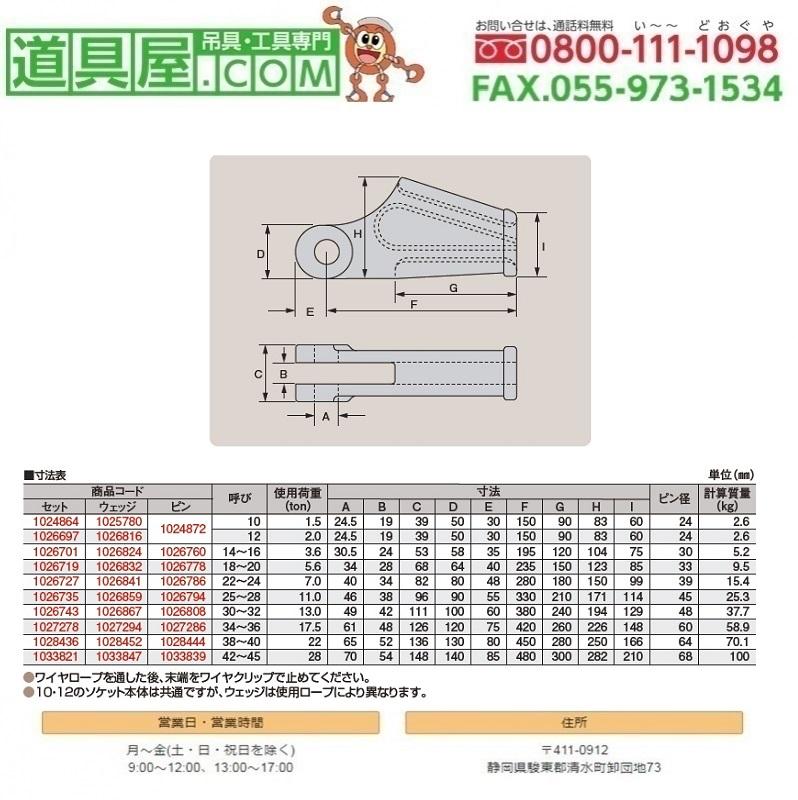 【2019 新作】 クサビ形ソケット用ピン一式 呼び38~40, 紀伊長島町 5264d822