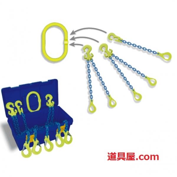 ファッションなデザイン マーテック 吊りの達人TT-MB2 チェーン線径8mm 標準長さ2m フックGBK:道具屋-DIY・工具