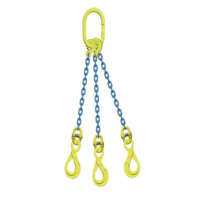 マーテック 3本吊りセット 全長1.5m 使用荷重5.1t TL3-BK8