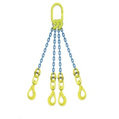 マーテック 4本吊りセット 全長1.5m 使用荷重13.5t TL4-BKL13