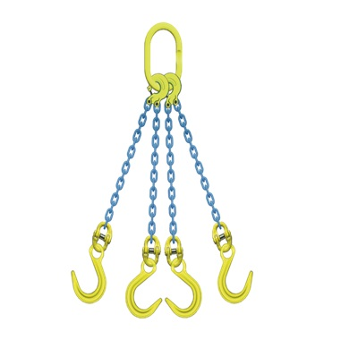 マーテック 4本吊りセット 全長1.5m 使用荷重8.3t TL4-OKE10