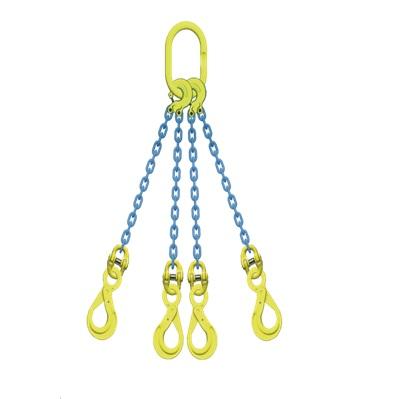 マーテック 4本吊りセット 全長1.5m 使用荷重5.1t TL4-BK8