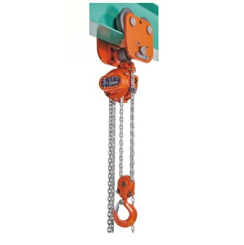 一番人気物 象印 C21プレントトロリ結合式チェーンブロック 定格荷重1.5t:道具屋-DIY・工具