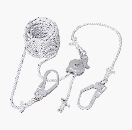 ツヨロン 水平親綱緊張器付GCハリップ ロープ長さ25m