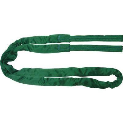 田村 ラウンドスリング SSタイプ 両端アイ形 緑色 使用荷重2.0t 長さ7.5m