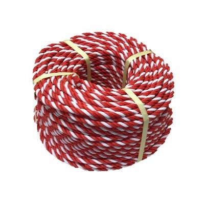 標識ロープ 線径10mm 長さ200m 赤・白