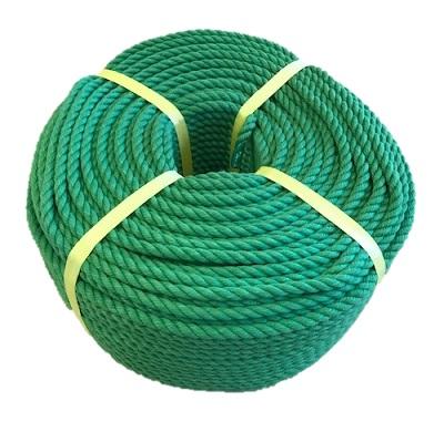 ポリエステルスパンロープ 緑色 径12mm 長さ100メートル巻き