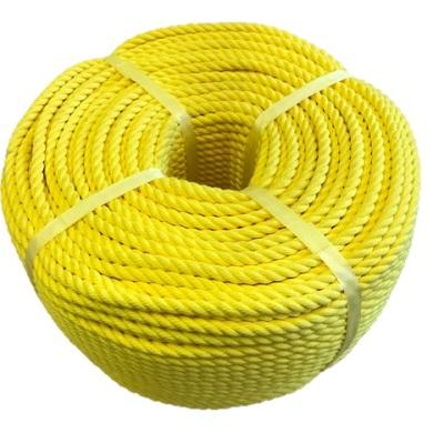 ポリエステルスパンロープ 黄色 径10mm 長さ100メートル巻き