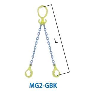 マーテック チェーンスリング 2本吊りセット 全長1.5m 7.3~9.0ton