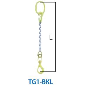 マーテック チェーンスリング 1本吊りセット 全長1.5m 使用荷重1.1ton