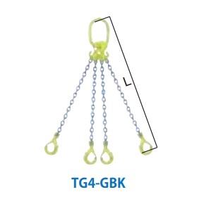 マーテック チェーンスリング 4本吊りセット 全長1.5m 4.2~5.1ton