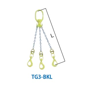 マーテック チェーンスリング 3本吊りセット 全長1.5m 4.2~5.1ton