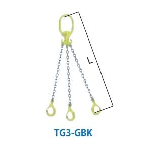マーテック チェーンスリング 3本吊りセット 全長1.5m 6.7~8.3ton