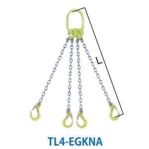 マーテック 4本吊りセット 全長1.5m 使用荷重13.5t TL4-EGKNA13