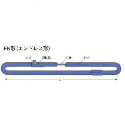 シライ 防水型マルチスリング エンドレス形 最大使用荷重2.0T 長さ4.5m