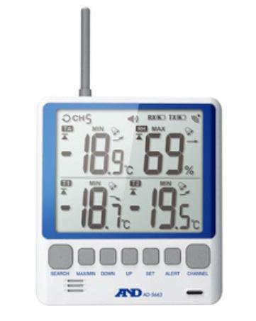 A&D (エー・アンド・デイ) ワイヤレス温度計・温湿度計 AD-5663