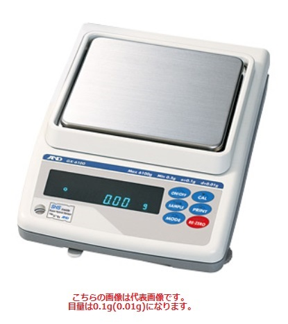 【P5倍】 A&D (エー・アンド・デイ) 検定付きはかり 校正用分銅内蔵型汎用天びん GX-4000R