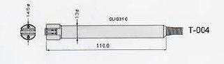【直送品】 アイ電子技研 K熱電対デジタル温度計(センサプローブ) T-004