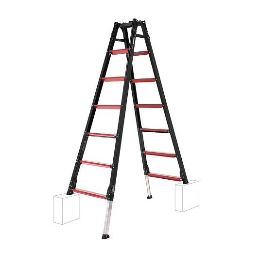 【直送品】 アルインコ 伸縮脚付はしご兼用脚立 GAUDI GUD-210 【法人向け、個人宅配送不可】