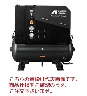【直送品】 アネスト岩田 コンプレッサ スクリュー:給油式タンクマウント LRST-1501 (200V 50/60Hz) タンクマウント式