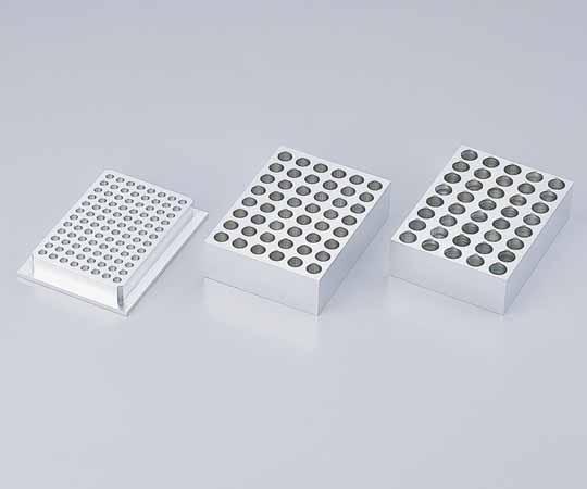 アズワン 1.5mlマイクロチューブ用アルミブロック 1-7324-04 《研究・実験用機器》