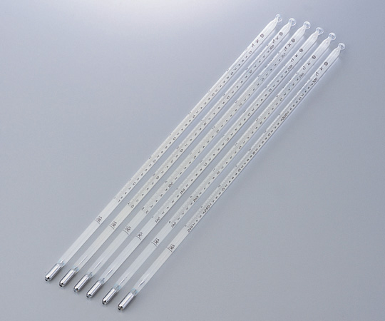 アズワン 試薬試験用温度計(日本薬局方温度計) 1-9775-02 《計測・測定・検査》
