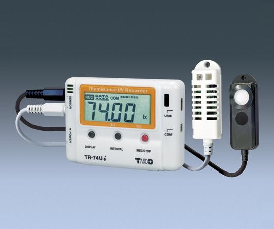 アズワン データロガー(照度・紫外線・温度・湿度) TR-74Ui (1-1879-01) 《計測・測定・検査》