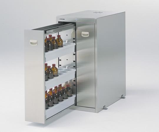【直送品】 アズワン 耐震ステンレス薬品庫(SUS430) SN-1845S4 (3-4462-24) 【大型】《実験設備・保管》 【特大・送料別】